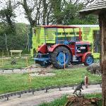 dinasaur tractor ride