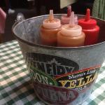 bucket of sauces