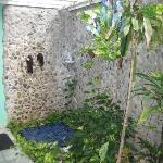 Garden Suite's outdoor shower