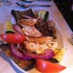 Grilled veggies and fresh mozzarella.