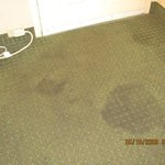 Room #108: more and more soiled carpet/with fowl odor