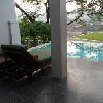 Pool villa terrace and plunge pool