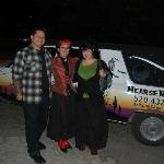 Renee, the hearse, and us!
