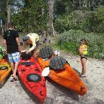 Tom, adjusting each Kayak for each Kayaker...