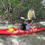 Tom giving instruction on Kayaking paddling...