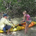 Tom giving instruction on Kayaking....