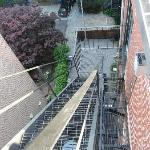 Stairs to rooftop.  If you are afraid of heights beware!