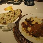 The garlic naan + curry