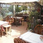 The restaurant inside!