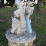 Sculture in pietra:Adelasia e Aleramo