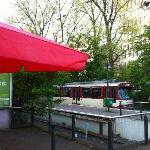 ホテルから歩いて1分の Am Seesterm駅