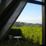 vista dalla porta-finestra della nostra camera