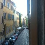 view down the street from room