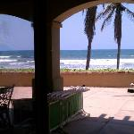 View of the beach 100' from the room and patio