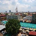 Le marché vu de la terrasse
