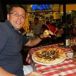 con la pizza