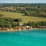 Areal View of The Torch Lake B&B