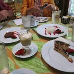 Dessert sampling.  The fruit cake, a recent recipe by our server, was outstanding!