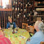 Wine rack built by Deb's husband