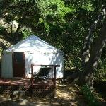 One of the yurts in the Yurt Village
