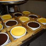 The various creme brulee