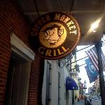 Copper Monkey Grill Sign