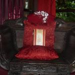 The Bali chair- I had to accessorize with my special things