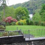We can overlook the Windermere from the garden.