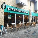 Starbucks in Huntingdon's Town Centre - Always busy.