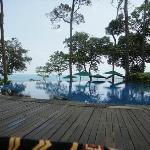 Swimmingpool am Hauptrestaurant