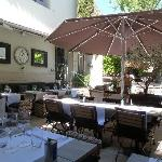 A shaded terrace is perfect for lunch