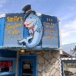 Look for the Smiles' sign in Cow Bay
