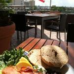 Bagel, Smoked Salmon & Cream Cheese Platter...Breakfast is served until 11AM!