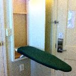 Ironing Board in the Euro Room