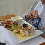 Le 1/2 homard du menu