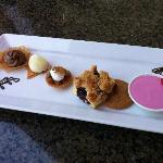 Fabulous dessert sampler plate