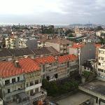 veduta dal balcone dell'appartamento