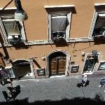 La rue vue de la chambre