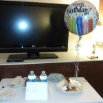 The staff made my birthday extra special, this was in my room as soon as I came back that evenin