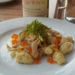 Housemade Gnocchi with fresh crabmeat and salmon roe