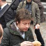 Jamie Oliver samples the now Famous Mackerel Bap; available 7 Days a week from the Marlboro Rest