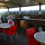 Outdoor cooking and BBQ area