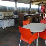 Communal BBQ, cooking and eating area
