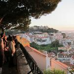 Looking over toward the castle from the miradouro