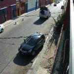 La rue de l'auberge vue du toit