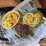 Burger w/fruits @ Legion Lake Resort