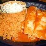 One Taco, 2 Enchiladas & Rice
