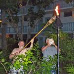 There is a Tiki Torch Lighting every night -- such fun!