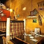 Enjoy your meal in our custom-made booths
