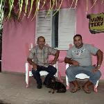 Guillermo, son Yerandy (Tito) and dog Che, Casa Tery